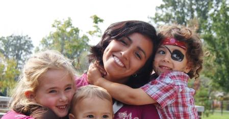 Au pair with children