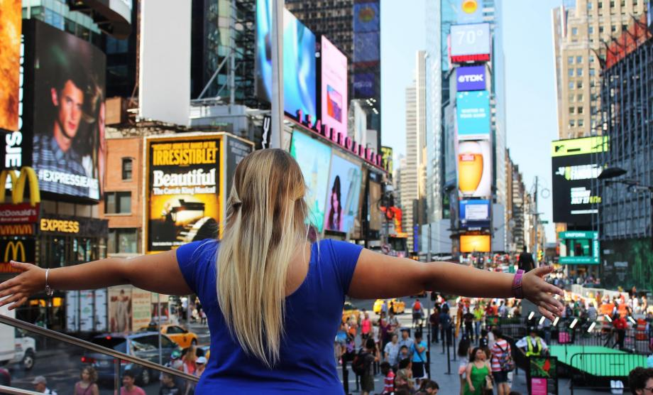 Au Pair at Times Square